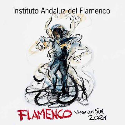 Cartel del ciclo Flamenco viene del sur 2021 en Sevilla