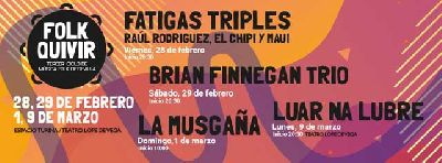Cartel del tercer ciclo de Música Folk Folkquivir 2020 en Sevilla
