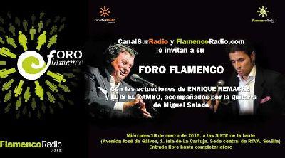 Flamenco: Luis el Zambo y Enrique Remache en Canal Sur Sevilla