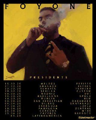 Cartel de la gira Presidente 2020 de Foyone