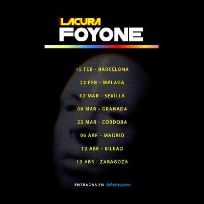 Cartel de la gira Lacura 2019 de Foyone
