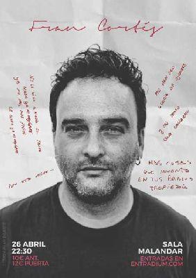 Cartel del concierto Fran Cortés en Malandar Sevilla 2019