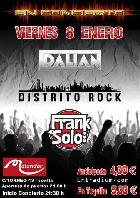 Concierto: Dalian, Frank Solo y Distrito Rock en Malandar Sevilla 2016