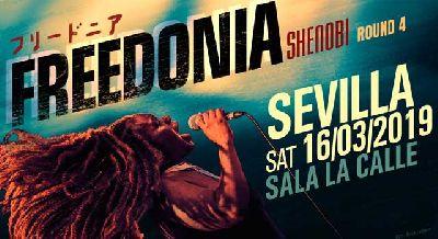 Cartel del concierto Freedonia en sala La Calle Sevilla 2019