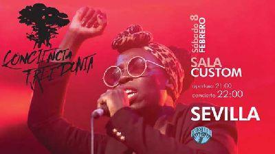 Cartel del concierto de Freedonia en Custom Sevilla 2020