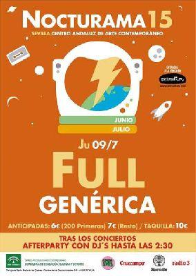 Concierto: Full y Genérica en Nocturama Sevilla 2015