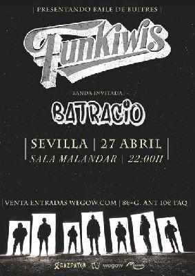 Cartel del concierto Funkiwis y Batracio en Malandar Sevilla 2019