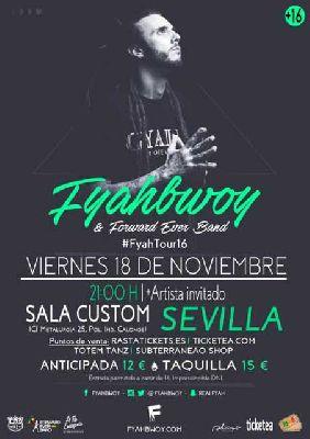 Concierto: Fyahbwoy #FyahTour16 en Custom Sevilla