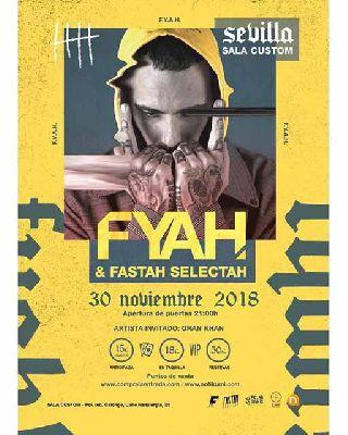 Concierto: Fyahbwoy en Custom Sevilla 2018