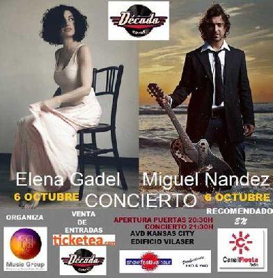 Concierto: Elena Gadel y Miguel Nández en Sevilla
