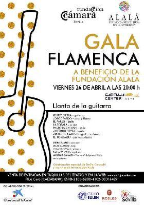 Cartel de la Gala Flamenca a beneficio de la Fundación Alalá en el Cartuja Center de Sevilla 2019