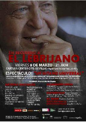 Cartel de la Gala homenaje a Juan Peña Lebrijano en el Cartuja Center de Sevilla 2019