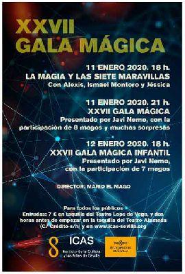 Cartel de la Gala Mágica de Sevilla 2020