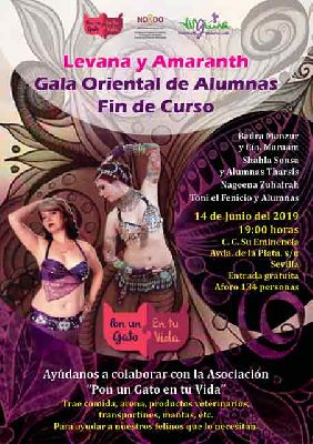 Cartel de la Gala oriental en el Centro Cívico Su Eminencia Sevilla 2019