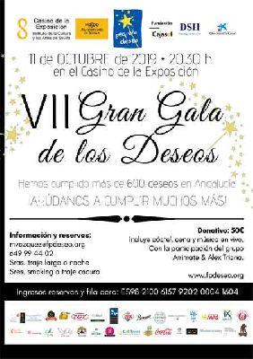 Cartel de la VII Gala benéfica Fundación Pequeño Deseo en Sevilla 2019