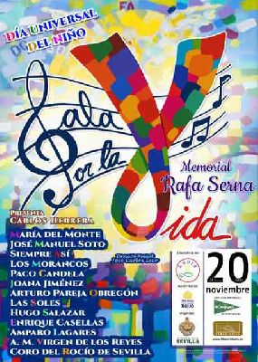 Cartel de la Gala por la Vida. Memorial Rafa Serna en Fibes Sevilla 2019