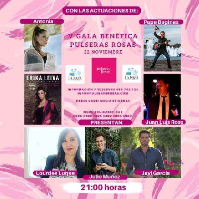 Cartel de la V Gala benéfica de Asociación Pulseras Rosas en Sevilla 2019