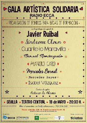 Gala solidaria Radio ECCA en el Teatro Central de Sevilla