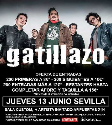 Concierto: Gatillazo en Sevilla (Sala Custom)