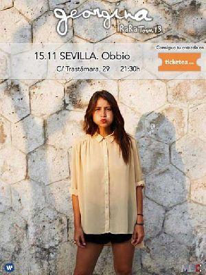 Concierto: Georgina en Sala Obbio Sevilla (noviembre 2013)