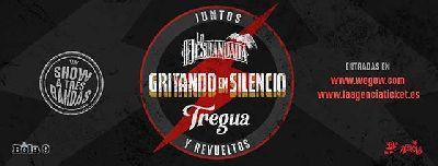 Cartel de la gira Juntos y revueltos de Gritando en Silencio, La Desbandada y Tregua