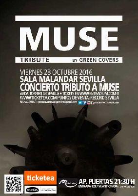 Concierto: Green Covers (tributo a Muse) en Malandar Sevilla (octubre 2016)