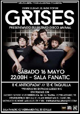 Concierto: Grises en Fanatic de Sevilla (mayo 2015)