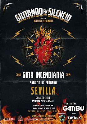 Cartel del concierto Gritando en Silencio en Custom Sevilla 2019