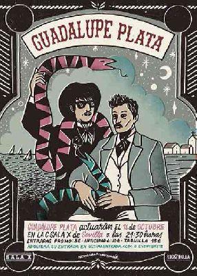 Cartel del concierto de Guadalupe Plata en la Sala X de Sevilla 2019