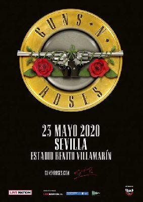 Cartel del concierto de Guns N' Roses en Sevilla 2020