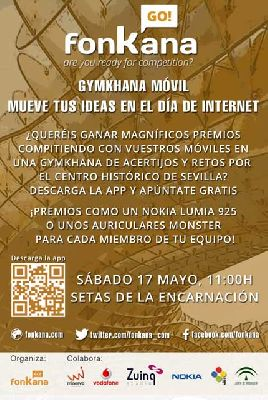 Gymkhana móvil Mueve tus ideas en el Día de Internet Sevilla 2014