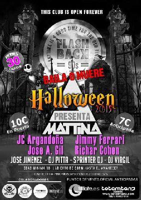 Flashback 90s Halloween 2015 en Mattina Sevilla