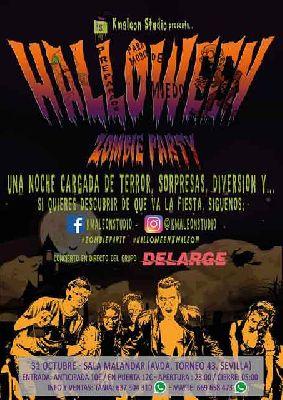 Halloween Zombie Party 2016 en Malandar Sevilla
