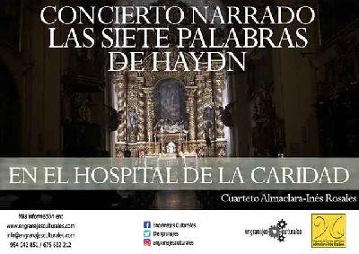 Cartel del Concierto Narrado: las siete palabras de Haydn en el Hospital de la Caridad de Sevilla