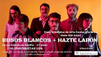 Cartel del concierto de Hazte Lapón y Rusos Blancos en Pop CAAC Sevilla 2019