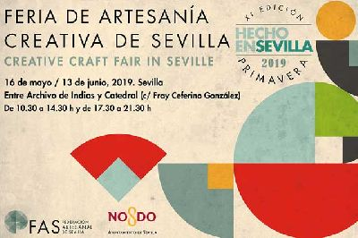 Cartel de la undécima feria de artesanía Hecho en Sevilla 2019