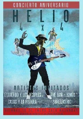 Cartel del concierto Helio 4 x 4 en Malandar Sevilla 2020