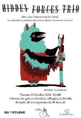Concierto: Hidden Forces Trio en Un gato en bicicleta Sevilla