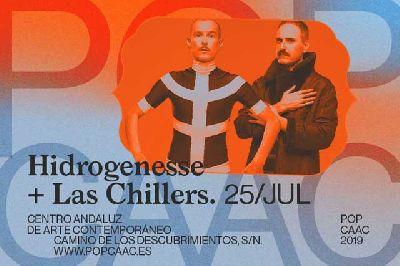 Cartel del concierto de Hidrogenesse y Las Chillers en Pop CAAC Sevilla 2019