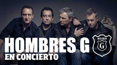 Cartel del concierto de Hombres G