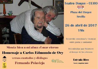 Concierto: Homenaje a Carlos Edmundo de Ory en el Teatro Duque Sevilla