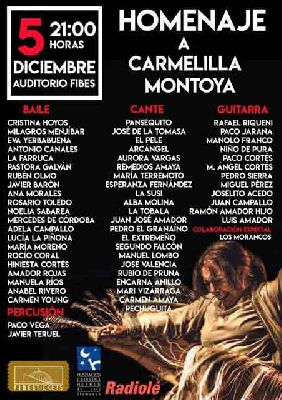 Cartel del Homenaje Flamenco a Carmelilla Montoya en Fibes Sevilla 2019