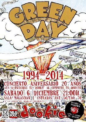 Concierto: homenaje a Dookie de Green Day en Malandar Sevilla