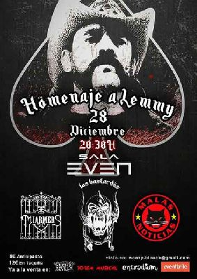 Cartel del concierto de Homenaje a Lemmy (Motörhead) en la Sala Even Sevilla 2019