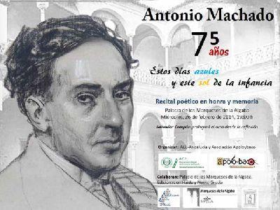 Recital poético homenaje a Machado en Palacio Marqueses Algaba
