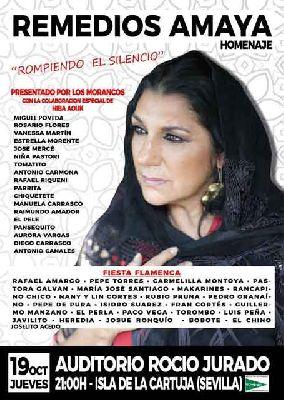 Homenaje a Remedios Amaya en el Auditorio Rocío Jurado de Sevilla 2017