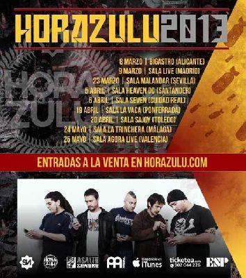 Concierto: Hora Zulu en Sevilla (Luxuria ex Malandar)
