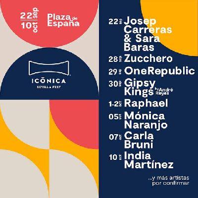 Cartel del festival Icónica Sevilla Fest 2021 en Sevilla