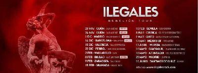Cartel de la gira Rebelión Tour de Ilegales