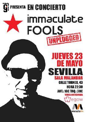 Cartel del concierto de Immaculate Fools en Malandar Sevilla 2019